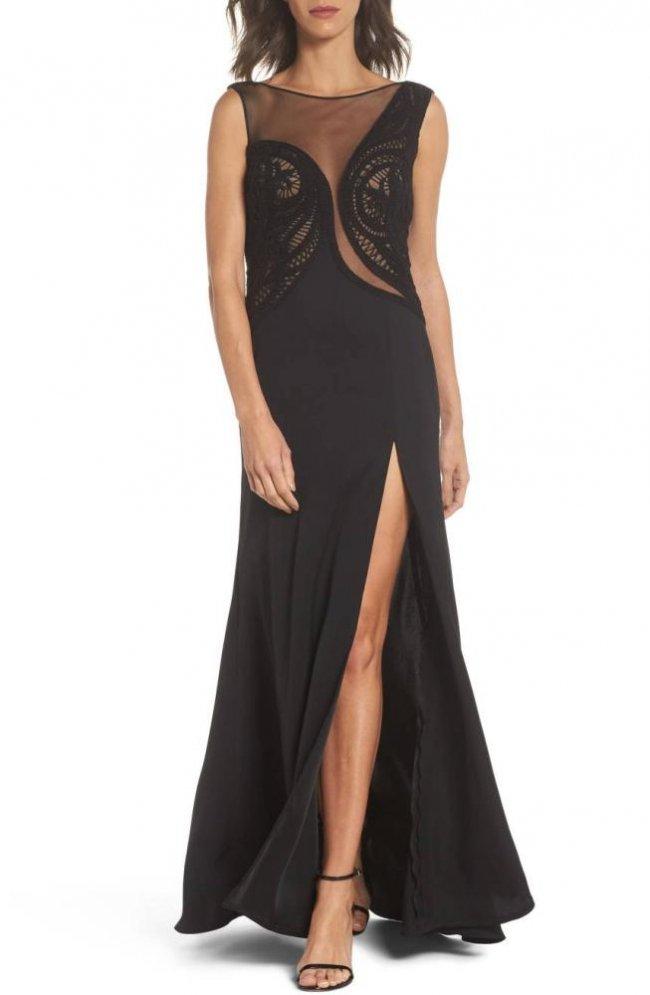 黒 ドレス ノースリーブ