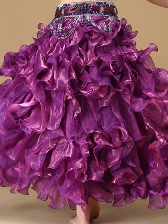 ベリーダンス衣装 スカート Q01315-cz(6色)
