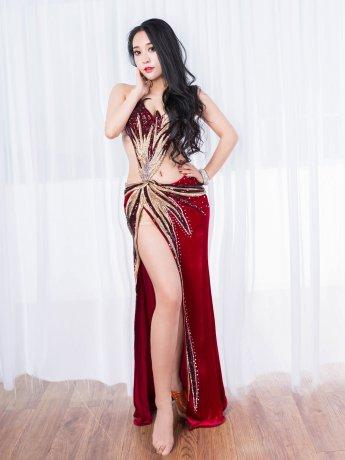 ベリーダンス衣装 豪華セットQC2930(2色)