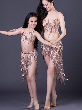 ベリーダンス衣装 豪華セットQC2912(2色)