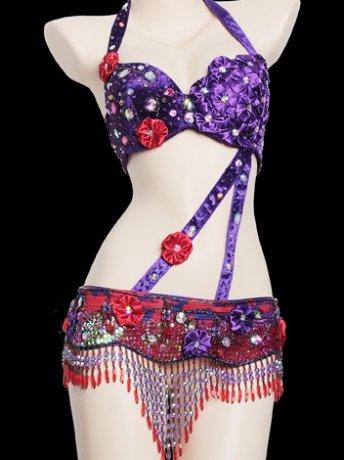 ベリーダンス衣装 ブラベルトセット SmeelaWY8602(2色)