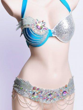 ベリーダンス衣装 ブラベルトセット SmeelaWY8165(3色)