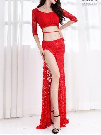 ベリーダンス衣装  レッスン着セットQC2991(2色)