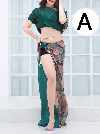 シルクベリーダンス衣装             ステージ衣装セット                QC3058