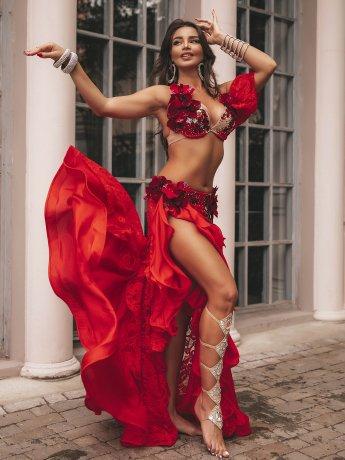 ベリーダンス衣装・POLINA-RED