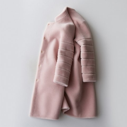 VERY JJ掲載 DREAMIN PINK BOA COAT