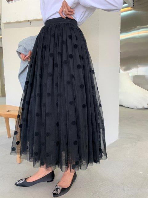 オーガンジーレイヤードDOTスカート