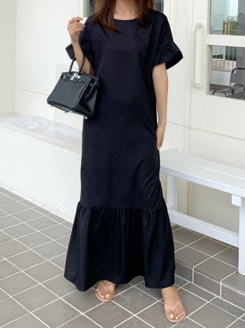ロングスモッグドレス