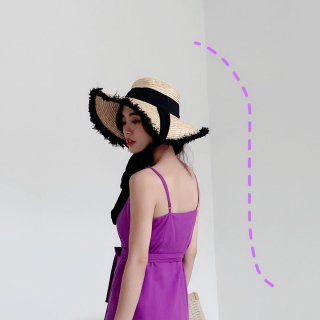 <img class='new_mark_img1' src='https://img.shop-pro.jp/img/new/icons14.gif' style='border:none;display:inline;margin:0px;padding:0px;width:auto;' />BLACK RIBON STRAW HAT