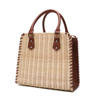 <img class='new_mark_img1' src='https://img.shop-pro.jp/img/new/icons14.gif' style='border:none;display:inline;margin:0px;padding:0px;width:auto;' />RATTAN SIDE LEATHER HAND BAG