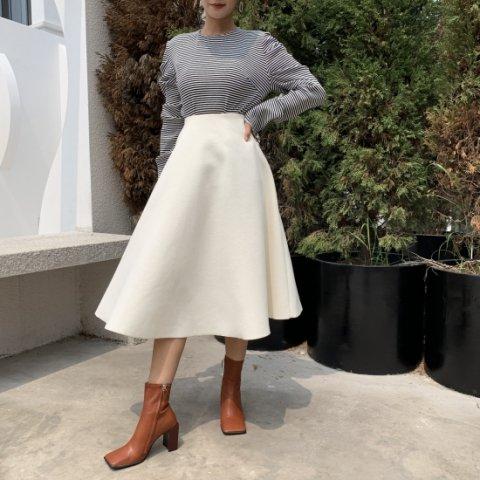 SHORT Aラインスカート