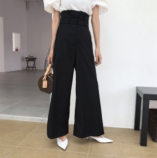 <img class='new_mark_img1' src='https://img.shop-pro.jp/img/new/icons14.gif' style='border:none;display:inline;margin:0px;padding:0px;width:auto;' />ハイウエストLADY PANTS BLACK