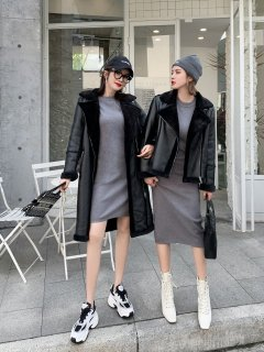 <img class='new_mark_img1' src='https://img.shop-pro.jp/img/new/icons14.gif' style='border:none;display:inline;margin:0px;padding:0px;width:auto;' />BLACK LONG BOA COAT