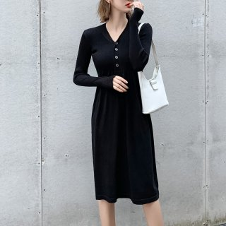 <img class='new_mark_img1' src='https://img.shop-pro.jp/img/new/icons14.gif' style='border:none;display:inline;margin:0px;padding:0px;width:auto;' />クラシカル KNIT BLACK DRESS
