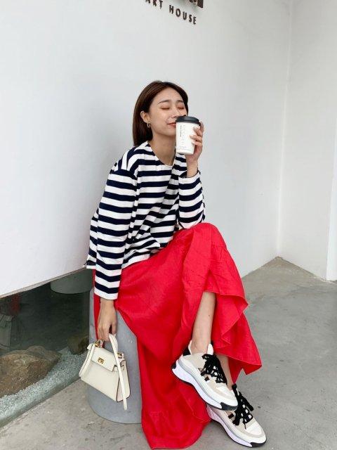 リネンフリルラップスカート