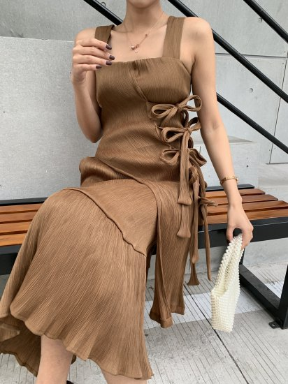 RIBON BROWN DRESS