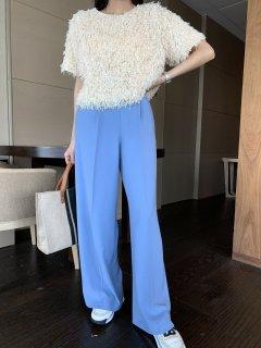 COLOR ストレート パンツ BLUE