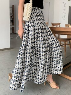 <img class='new_mark_img1' src='https://img.shop-pro.jp/img/new/icons14.gif' style='border:none;display:inline;margin:0px;padding:0px;width:auto;' />NAVY TWEED MIDI SKIRT