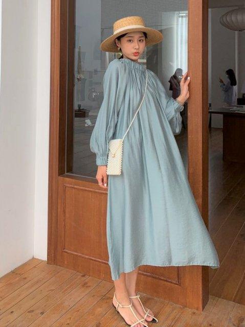 KR オフショルロングドレス