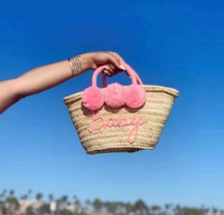 【4月頃お届け予定】MARRAKECH SMALL SIZE POMPOM BAG