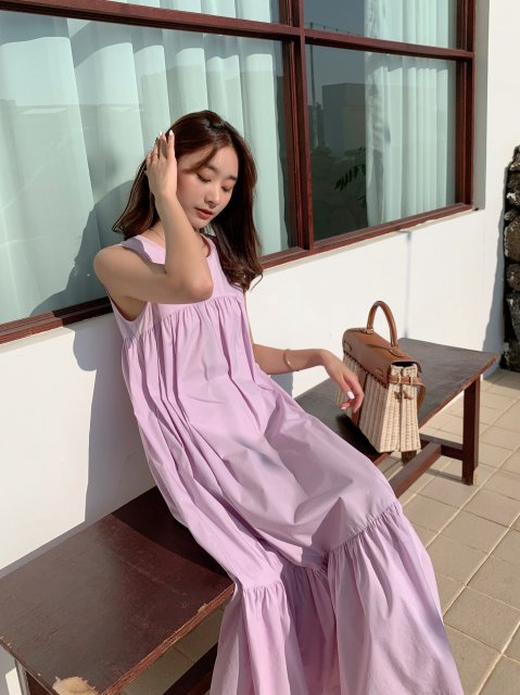 ENA COLOR MIDI DRESS
