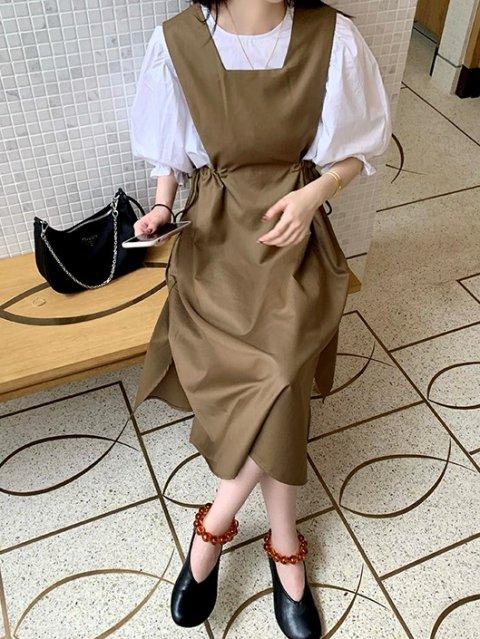 サイドリボンジャンパースカート