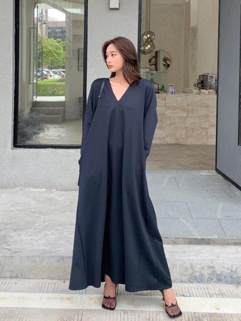 ロングスリーブ 2WAY DRESS