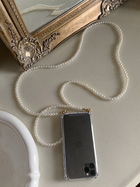 【完全受注生産】PEARL STRAP PHONE CASE