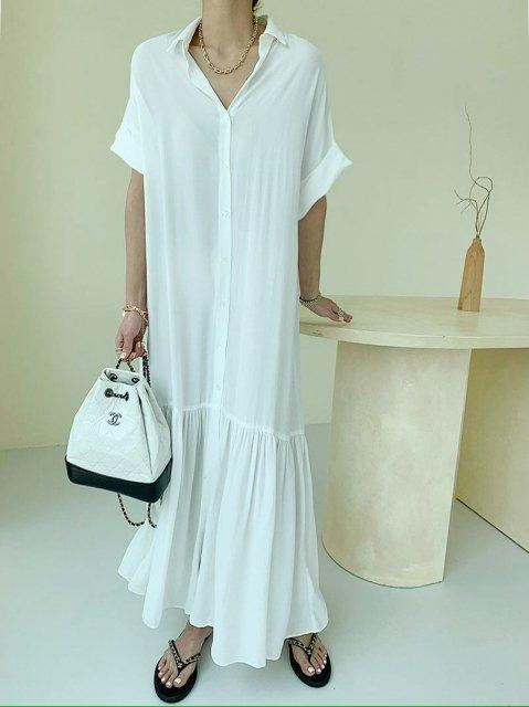 KR シルキーロングドレス
