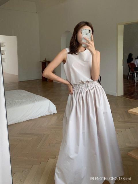 ウエストマークロングドレス'20