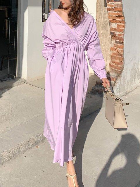 スイングシャツドレス Lilac