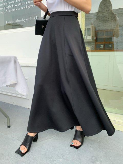 LUXE フレアスカート BLACK