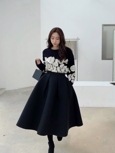 BB バルーンスカート BLACK