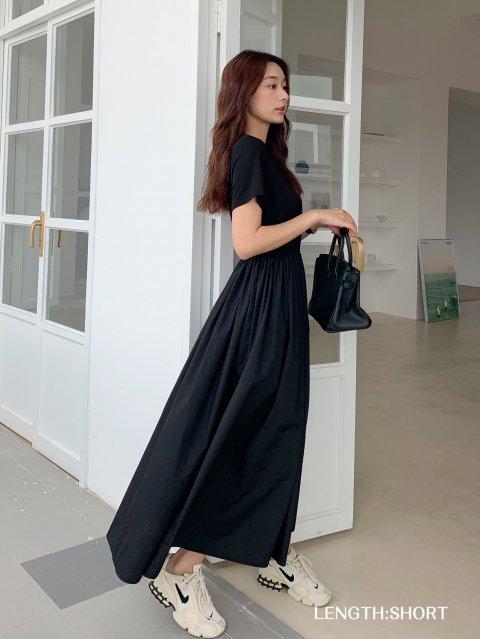 LONGギャザー T DRESS