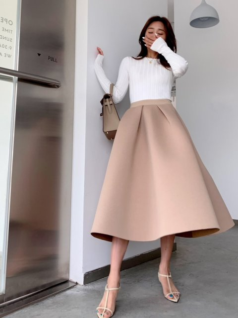 BB バルーンスカート BEIGE