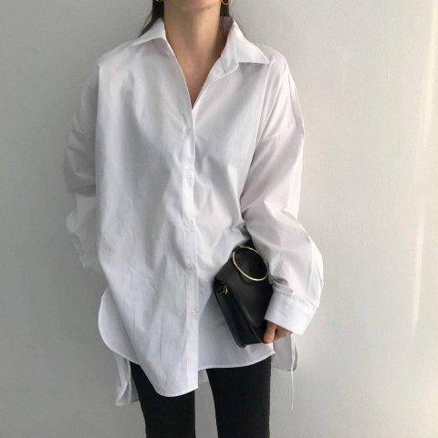 KR オーバーサイズカラーシャツ