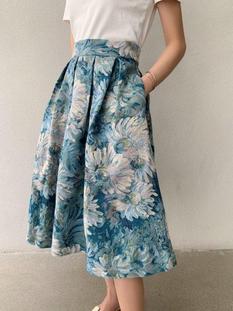 BLUE FLOWER ジャガードスカート
