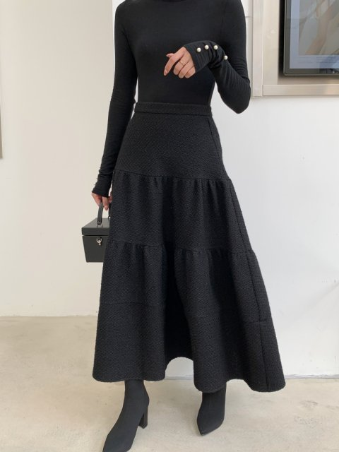 lily flare tweed skirt