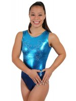 Ombre Gymnastics Leotard in Blue
