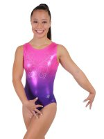 Ombre Gymnastics Leotard in Fuchsia
