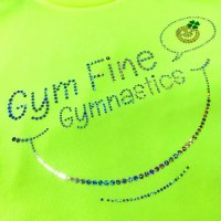 Gym Fine ドライTシャツ Smile 蛍光イエロー<img class='new_mark_img2' src='//img.shop-pro.jp/img/new/icons6.gif' style='border:none;display:inline;margin:0px;padding:0px;width:auto;' />