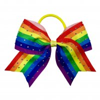 Gym Fine Bow No.49 Stripe Rainbow