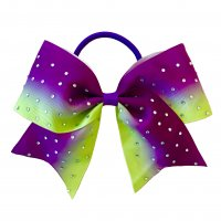 Gym Fine Bow No.40 Purple & Lime