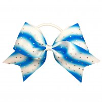 Gym Fine Bow No.25 Light Blue & White