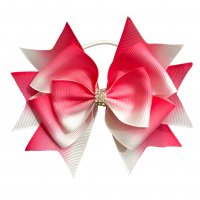 Gym Fine ギザギザ Bow Pink&White(白ゴム)<img class='new_mark_img2' src='https://img.shop-pro.jp/img/new/icons6.gif' style='border:none;display:inline;margin:0px;padding:0px;width:auto;' />