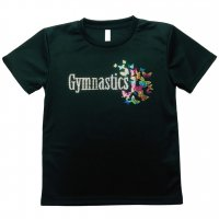 Gym Fine ドライTシャツ Flying Butterflies ブラック