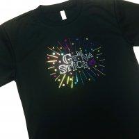 Gym Fine ドライTシャツ Colorful Stars ブラック