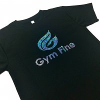 Gym Fine ドライTシャツ Gym Fine Logo Silver ブラック<img class='new_mark_img2' src='https://img.shop-pro.jp/img/new/icons6.gif' style='border:none;display:inline;margin:0px;padding:0px;width:auto;' />