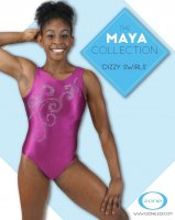 OZLEO1101-NRSR43 Dizzy Swirls Leotard<img class='new_mark_img2' src='https://img.shop-pro.jp/img/new/icons6.gif' style='border:none;display:inline;margin:0px;padding:0px;width:auto;' />