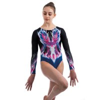 FIRE LONG SLEEVED LEOTARD BLACK<img class='new_mark_img2' src='https://img.shop-pro.jp/img/new/icons6.gif' style='border:none;display:inline;margin:0px;padding:0px;width:auto;' />